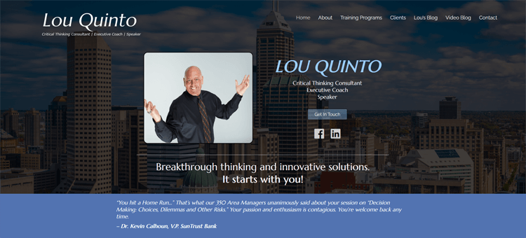 LOU QUINTO Critical Thinking Consultant Executive Coach Speaker